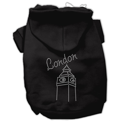 Mirage Pet Products London Rhinestone Hoodies Black XXXL(20)