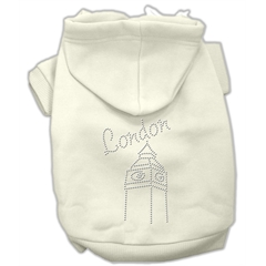 Mirage Pet Products London Rhinestone Hoodies Cream XXL (18)