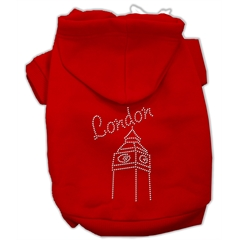 Mirage Pet Products London Rhinestone Hoodies Red M (12)