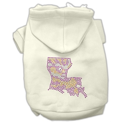 Mirage Pet Products Louisiana Rhinestone Hoodie Cream XS (8)