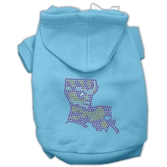 Mirage Pet Products Louisiana Rhinestone Hoodie Baby Blue XXL (18)