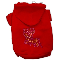 Mirage Pet Products Louisiana Rhinestone Hoodie Red XL (16)