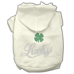 Mirage Pet Products Lucky Rhinestone Hoodies Cream XS (8)