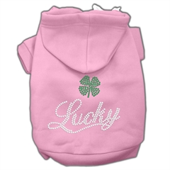 Mirage Pet Products Lucky Rhinestone Hoodies Pink S (10)