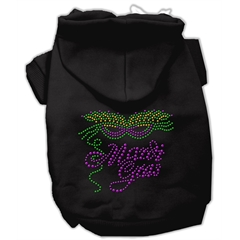 Mirage Pet Products Mardi Gras Rhinestud Hoodies Black XXXL(20)