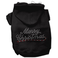 Mirage Pet Products Merry Christmas Rhinestone Hoodies Black M (12)