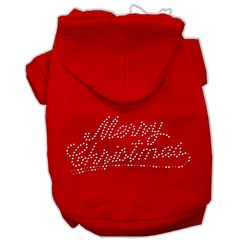 Mirage Pet Products Merry Christmas Rhinestone Hoodies Red XS (8)