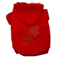 Mirage Pet Products Multi-Colored Flower Rhinestone Hoodie Red S (10)