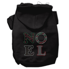 Mirage Pet Products Noel Rhinestone Hoodies Black XS (8)