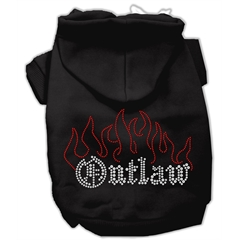 Mirage Pet Products Outlaw Rhinestone Hoodies Black M (12)