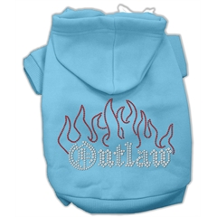 Mirage Pet Products Outlaw Rhinestone Hoodies Baby Blue XXXL(20)