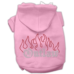 Mirage Pet Products Outlaw Rhinestone Hoodies Pink M (12)