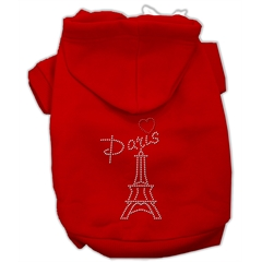 Mirage Pet Products Paris Rhinestone Hoodies Red M (12)