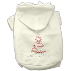 Mirage Pet Products Peace Tree Rhinestone Hoodies Cream XS (8)