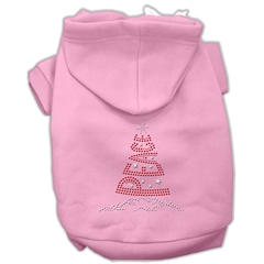 Mirage Pet Products Peace Tree Rhinestone Hoodies Pink S (10)