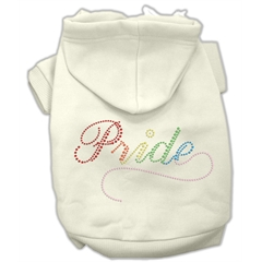 Mirage Pet Products Rainbow Colored Pride Hoodies Cream M (12)
