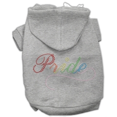 Mirage Pet Products Rainbow Colored Pride Hoodies Grey S (10)