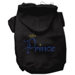 Mirage Pet Products Prince Rhinestone Hoodies Black XS (8)