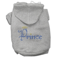 Mirage Pet Products Prince Rhinestone Hoodies Grey XL (16)