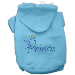 Mirage Pet Products Prince Rhinestone Hoodies Baby Blue XL (16)