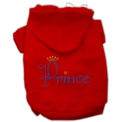 Mirage Pet Products Prince Rhinestone Hoodies Red XS (8)