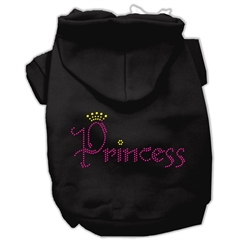 Mirage Pet Products Princess Rhinestone Hoodies Black XS (8)