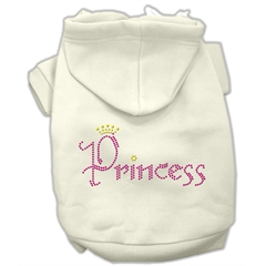 Mirage Pet Products Princess Rhinestone Hoodies Cream XXL (18)