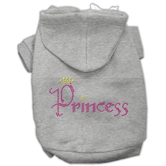 Mirage Pet Products Princess Rhinestone Hoodies Grey L (14)