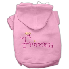 Mirage Pet Products Princess Rhinestone Hoodies Pink XS (8)