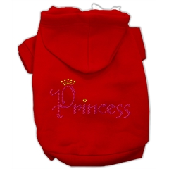 Mirage Pet Products Princess Rhinestone Hoodies Red XXXL(20)