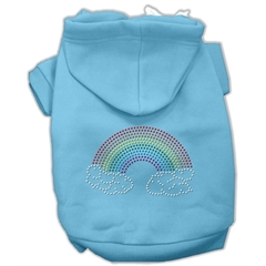 Mirage Pet Products Rhinestone Rainbow Hoodies Baby Blue XL (16)