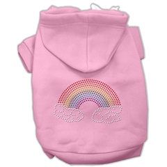 Mirage Pet Products Rhinestone Rainbow Hoodies Pink M (12)