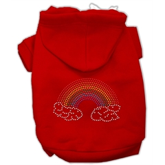 Mirage Pet Products Rhinestone Rainbow Hoodies Red XXXL(20)