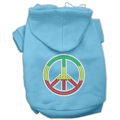 Mirage Pet Products Rasta Peace Sign Hoodie Baby Blue S (10)