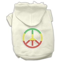 Mirage Pet Products Rasta Peace Sign Hoodie Cream XXL (18)