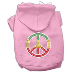 Mirage Pet Products Rasta Peace Sign Hoodie Pink XS (8)