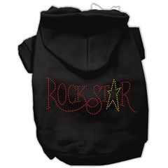 Mirage Pet Products Rock Star Rhinestone Hoodies Black XS (8)