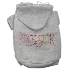 Mirage Pet Products Rock Star Rhinestone Hoodies Grey S (10)