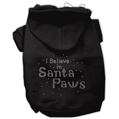 Mirage Pet Products I Believe in Santa Paws Hoodie Black XXXL(20)