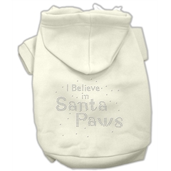 Mirage Pet Products I Believe in Santa Paws Hoodie Cream XS (8)