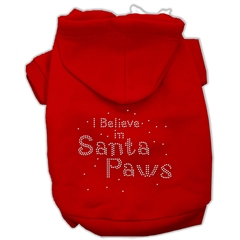 Mirage Pet Products I Believe in Santa Paws Hoodie Red XS (8)