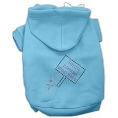 Mirage Pet Products Santa Stop Here Hoodies Baby Blue XL (16)