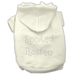 Mirage Pet Products Spoiled Rotten Rhinestone Hoodie Cream M (12)