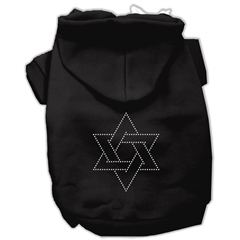 Mirage Pet Products Star of David Hoodies Black M (12)
