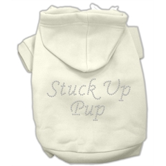 Mirage Pet Products Stuck Up Pup Hoodies Cream XXL (18)