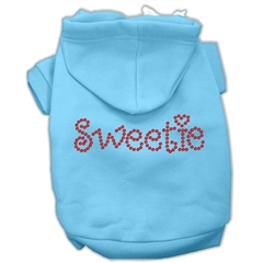 Mirage Pet Products Sweetie Rhinestone Hoodies Baby Blue M (12)
