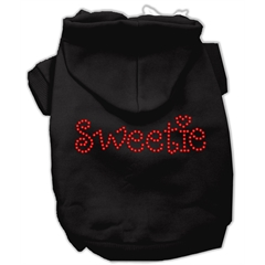 Mirage Pet Products Sweetie Rhinestone Hoodies Black S (10)
