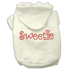 Mirage Pet Products Sweetie Rhinestone Hoodies Cream XL (16)