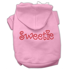 Mirage Pet Products Sweetie Rhinestone Hoodies Pink XL (16)