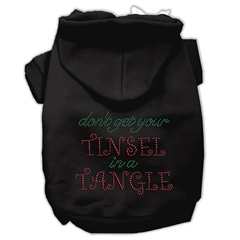 Mirage Pet Products Tinsel in a Tangle Rhinestone Hoodies Black XXXL(20)